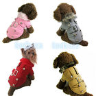 LOVELY Cute Pet Puppy Winter Warm Clothes Comfortable Costume Apparel Dog Coat