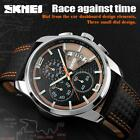 SKMEI Men Sport Watch Leather Waterproof Date Quartz Chronograph Watch 9106 I4T3