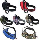 Adjustable Soft Padded Harness Large Medium Dog Vest Chest Strap 7 Colors XS -XL