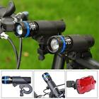 Power LED Flashlight Bicycle Cycling Torch Bike Head Lamp+Holder+Rear Tail Light