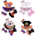 Baby Girls Infant Headband+Top Romper Dress+Leg Warmer+Shoes Cotton Xmas Sets