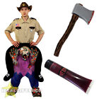 ZOMBIE PICK ME UP SHERIFF COSTUME AXE FAKE BLOOD ADULTS HALLOWEEN FANCY DRESS