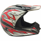 Raptor MX Off Road Helmet Black/Red Adult Sizes