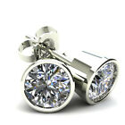 .85Ct Round Brilliant Cut Natural Quality Diamond Stud Earrings14K Gold