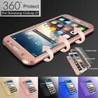 Hybrid 360° Full Protector Case Cover +Tempered Glass Samsung Galaxy S7  J7 2015