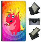 Mythical Magical Unicorns Dressing Up Universal Leather Case For Google Tablets
