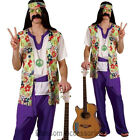 K272 Hippie Mens 60's 70's Disco Peace Groovy Halloween Fancy Dress Up Costume