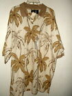 NWT XXL MAGNIFICENT PALMS HAWAIIAN POLO SHIRT by OCEAN PACIFIC 100% COTTON