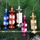 Fine 4pcs Glitter Candy Shape for Christmas Tree Ornament Hanging Decorations