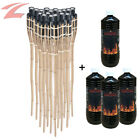 12-18x Bamboo Torch for Garden Outdoor Party Birthday Light Lamp 1-3L Torch Oil