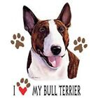 Bull Terrier Love T Shirt Pick Your Size 7 X Large to 14X Large