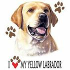 Yellow Labrador Retriever Love T Shirt Pick Your Size 7 X Large to 14X Large