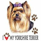 Yorkshire Terrier Love T Shirt Pick Your Size 7 X Large to 14X Large