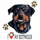 Rottweiler Love T Shirt Pick Your Size 7 X Large to 14X Large