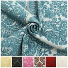 HEAVY WEIGHT VELVET FLORAL CHENILLE DAMASK DFS CUSHION UPHOLSTERY FABRIC