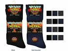 6 Mens THERMAL Cotton Rich NON ELASTIC Loose Top Socks UK 6-11
