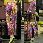 Women's Capris Leggings High Waisted Floral Printed Yoga Pants Fitness Workout