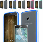 Film LCD+Fused TPU+Clear Back Case Cover For Alcatel One Touch PIXI Avion LTE