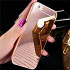 Rose Gold Ultra Slim Metal Bumper Mirror Case Cover For Various Mobile Phone New