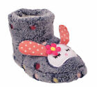 Novelty Bunny Slippers Girls Kids Infant Fluffy Funky Comfort Warm Winter Shoes
