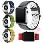 New Leather Watch Band Strap + Classic Buckle for Apple Watch 38mm/42mm