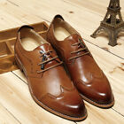 New Men's Oxford Brogue Increasing Height Dress Formal Lace up Casual Shoes