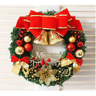 36cm Large Christmas Wreath Door Wall Ornament Garland Decoration Red Bowknot