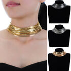 Fashion Jewelry Gold Silver Chains Punk Gothic Choker Statement Bib Necklace