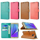Luxury Leather Card Cash Wallet Case Flip Stand Cover for Samsung Galaxy Note 5