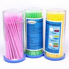 100 Pieces Eyelash Extension Disposable Swab Applicators Micro Brush Roll S M L
