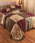 CHENILLE Purpose PATCHWORK BEDSPREAD BEDDING IN 2 SIZES BEDROOM HOME DÉCOR NEW
