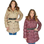 Urban Republic Juniors Long Belted Puffer Faux Down Winter Coat Jacket