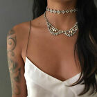 Luxury Charm Alloy Vintage Bohemian Women Collar Choker Statement Bib Necklace