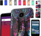 Tempered Glass+2Layer Slim Rubber Case Cover For Alcatel One Touch PIXI Avion