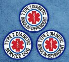 TYPE 1 2 INSULIN DEPENDENT SERVICE DOG PATCH 3 inch Danny & LuAnns Embroidery