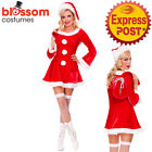 K289 Ladies Santa Claus Party Christmas Xmas Fancy Dress Up Costume Outfit + Hat