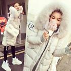 Chic Womens Winter Real Fur Collar Hooded Coat Warm Down Parka Outwear Overcoat