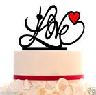 Personalized Wedding LOVE Cake Topper With FREE STAND for display