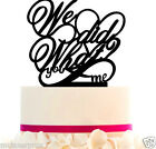 LOVE Cake Topper Custom Wedding We Did What With FREE STAND and Removable Spikes