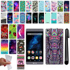 For BLU Energy X Plus TPU SILICONE Rubber Soft Protective Case Cover + Pen