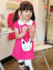 2pcs lovely Baby Girls Short Sleeve Shirt+Pants Set Kids Casual Outfits
