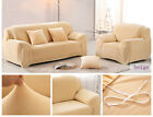 (US)Solid Color Stretch Elastic Sofa Slipcovers Pet Sofa Cover For 1 2 3 seater