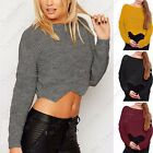 NEW LADIES SCALLOP EDGE CROP KNITTED JUMPER WOMENS CROPPED FISHERMANS KNIT TOP