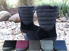 Sporto Waterproof Suede Quilted Mid Calf Winter Snow Boots Side Zip  ELLIE