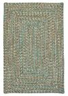 Corsica Indoor Outdoor Rectangle Braided Rug, Seagrass ~ Made in USA