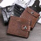 Mens Luxury Soft Quality Leather Wallet Credit Card Holder Purse Brown B20E