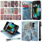 For LG K10 Premier LTE L62VL K420 K420N Flip Wallet Skin POUCH Case Cover + Pen