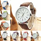 Elegant Women Mens Dress Watch Leather Strap Casual Analog Quartz Wrist Watch