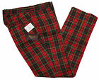 RELCO TARTAN TROUSERS - RED - CLASSIC MOD SKINHEAD STA PRESS STYLE