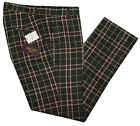 RELCO TARTAN TROUSERS - BOTTLE GREEN - CLASSIC MOD SKINHEAD STA PRESS STYLE